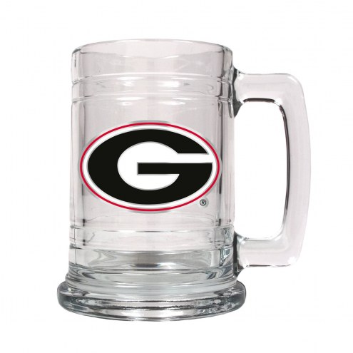 Georgia Bulldogs College Glass Tankard Beer Mug 2-Piece Set