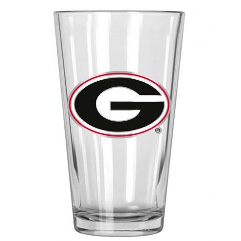 Georgia Bulldogs College 16 Oz. Pint Glass 2-Piece Set