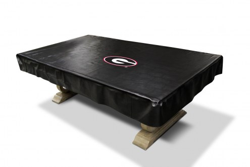 Georgia Bulldogs College Pool Table Cover