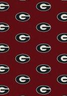 Georgia Bulldogs College Repeat Area Rug
