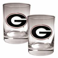 Georgia Bulldogs College 2-Piece 14 Oz. Rocks Glass Set