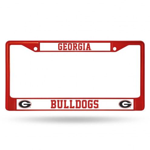 Georgia Bulldogs Color Metal License Plate Frame