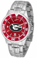 Georgia Bulldogs Competitor Steel AnoChrome Color Bezel Men's Watch