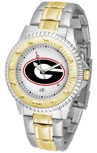 Georgia Bulldogs Competitor Two-Tone Men's Watch