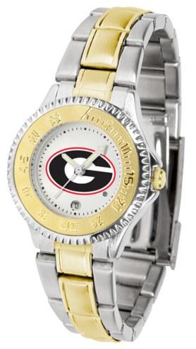 Georgia Bulldogs Competitor Two-Tone Women's Watch