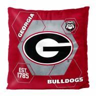 Georgia Bulldogs Connector Double Sided Velvet Pillow