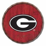 "Georgia Bulldogs Cracked Color 24"" Barrel Top"