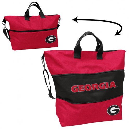 Georgia Bulldogs Crosshatch Expandable Tote
