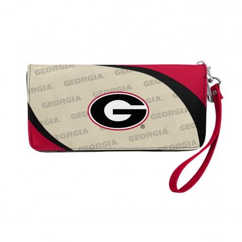 Georgia Bulldogs Curve Zip Organizer Wallet