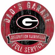 Georgia Bulldogs Dad's Garage Sign