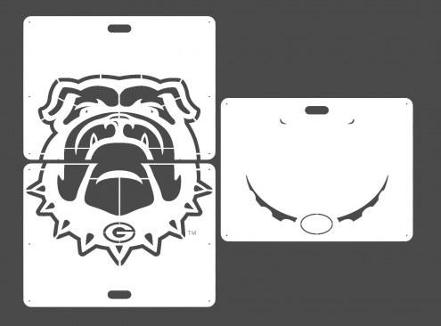Georgia Bulldogs Lawn Stencil