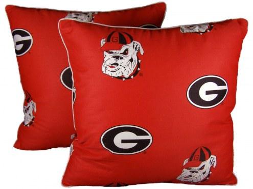 Georgia Bulldogs Outdoor Decorative Pillow Set