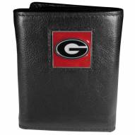 Georgia Bulldogs Deluxe Leather Tri-fold Wallet in Gift Box