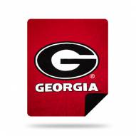 Georgia Bulldogs Denali Sliver Knit Throw Blanket