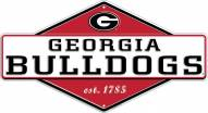 Georgia Bulldogs Diamond Panel Metal Sign