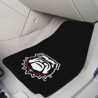 Georgia Bulldogs Dog Head 2-Piece Carpet Car Mats