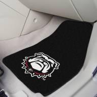 Georgia Bulldogs Dog Head 2-Piece Carpet Car Mats