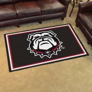 Georgia Bulldogs Dog Head 4' x 6' Area Rug