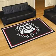 Georgia Bulldogs Dog Head 5' x 8' Area Rug