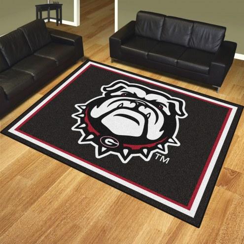 Georgia Bulldogs Dog Head 8' x 10' Area Rug