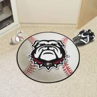 Georgia Bulldogs Dog Head Baseball Rug