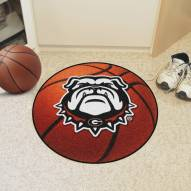 Georgia Bulldogs Dog Head Basketball Mat