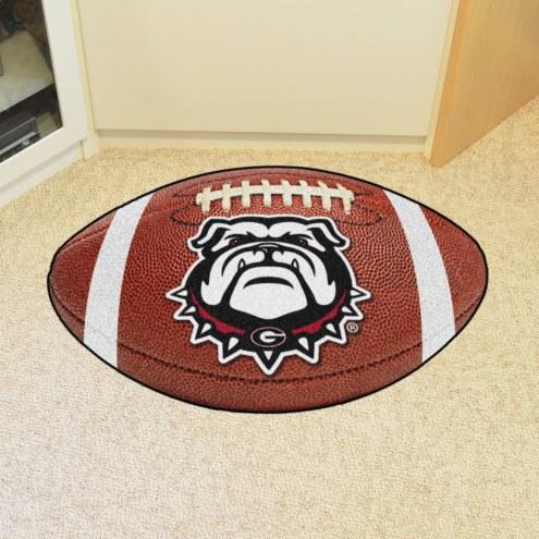 Georgia Bulldogs Dog Head Football Floor Mat