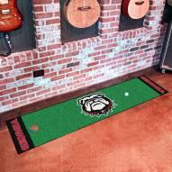 Georgia Bulldogs Dog Head Golf Putting Green Mat