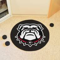 Georgia Bulldogs Dog Head Hockey Puck Mat