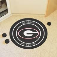 Georgia Bulldogs Dog Head Hockey Puck Mat