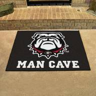 Georgia Bulldogs Dog Head Man Cave All-Star Rug