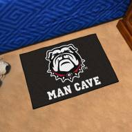 Georgia Bulldogs Dog Head Man Cave Starter Mat