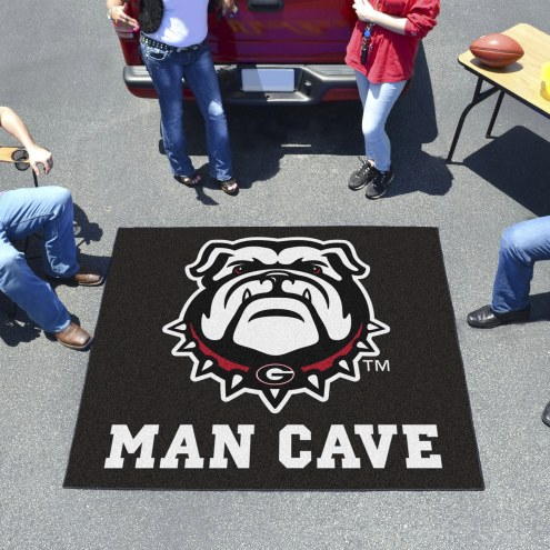 Georgia Bulldogs Dog Head Man Cave Tailgate Mat