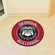 Georgia Bulldogs Dog Head Rounded Mat