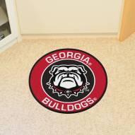 Georgia Bulldogs Dog Head Rounded Mat