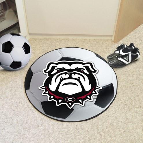 Georgia Bulldogs Dog Head Soccer Ball Mat
