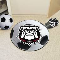 Georgia Bulldogs Dog Head Soccer Ball Mat