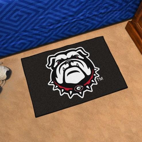 Georgia Bulldogs Dog Head Starter Rug