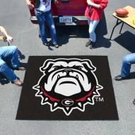 Georgia Bulldogs Dog Head Tailgate Mat