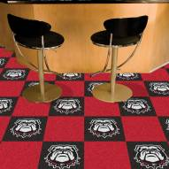 Georgia Bulldogs Dog Head Team Carpet Tiles