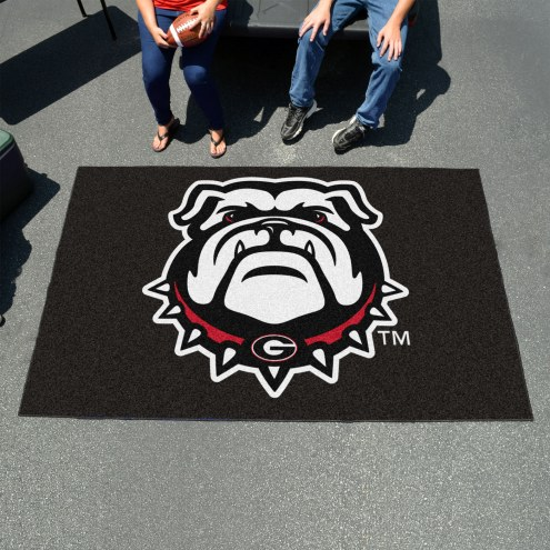 Georgia Bulldogs Dog Head Ulti-Mat Area Rug