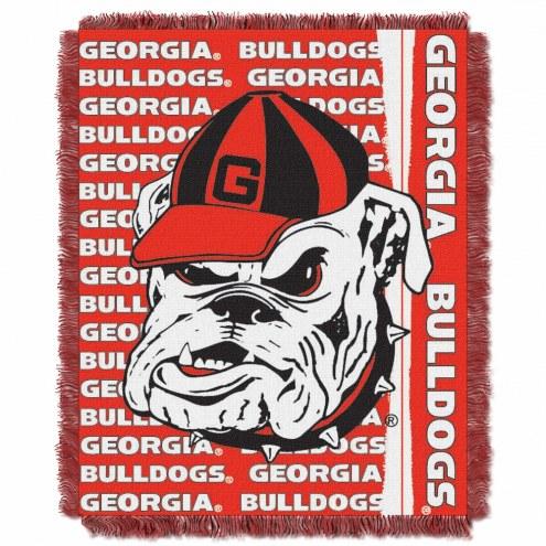 Georgia Bulldogs Double Play Woven Throw Blanket