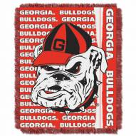 Georgia Bulldogs Double Play Woven Throw Blanket