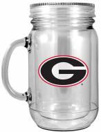 Georgia Bulldogs Double Walled Mason Jar