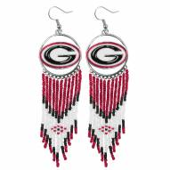 Georgia Bulldogs Dreamcatcher Earrings