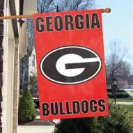 Georgia Bulldogs NCAA Applique 2-Sided Banner Flag