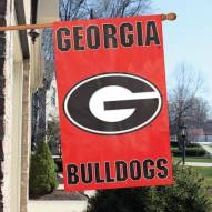 Georgia Bulldogs NCAA Applique 2-Sided Banner Flag