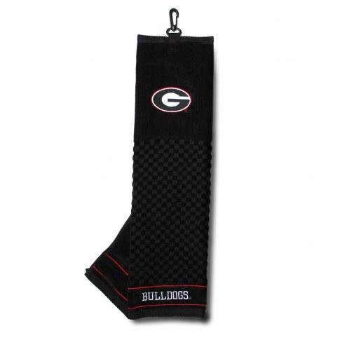 Georgia Bulldogs Embroidered Golf Towel