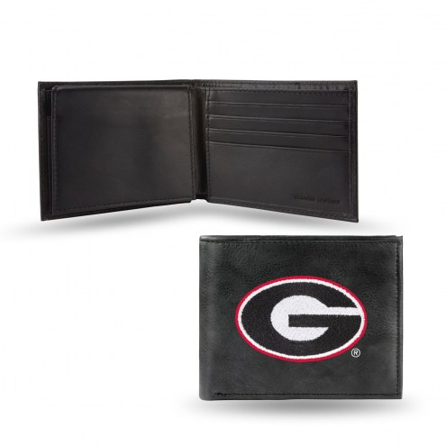 Georgia Bulldogs Embroidered Leather Billfold Wallet