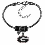 Georgia Bulldogs Euro Bead Bracelet
